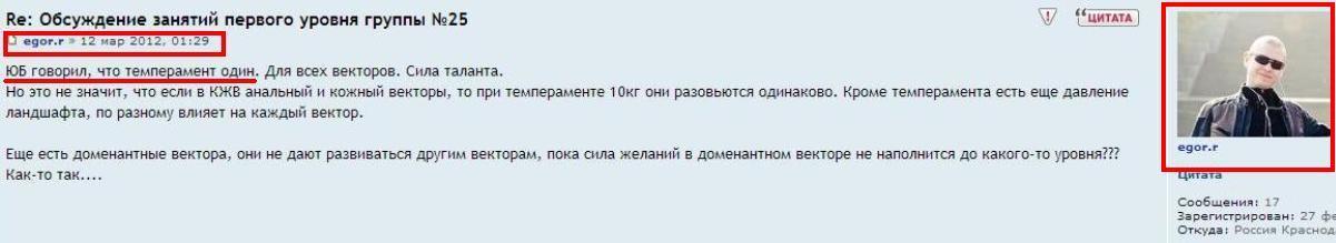 6 Егор Рыженко на форуме портала СВП ЮБ1