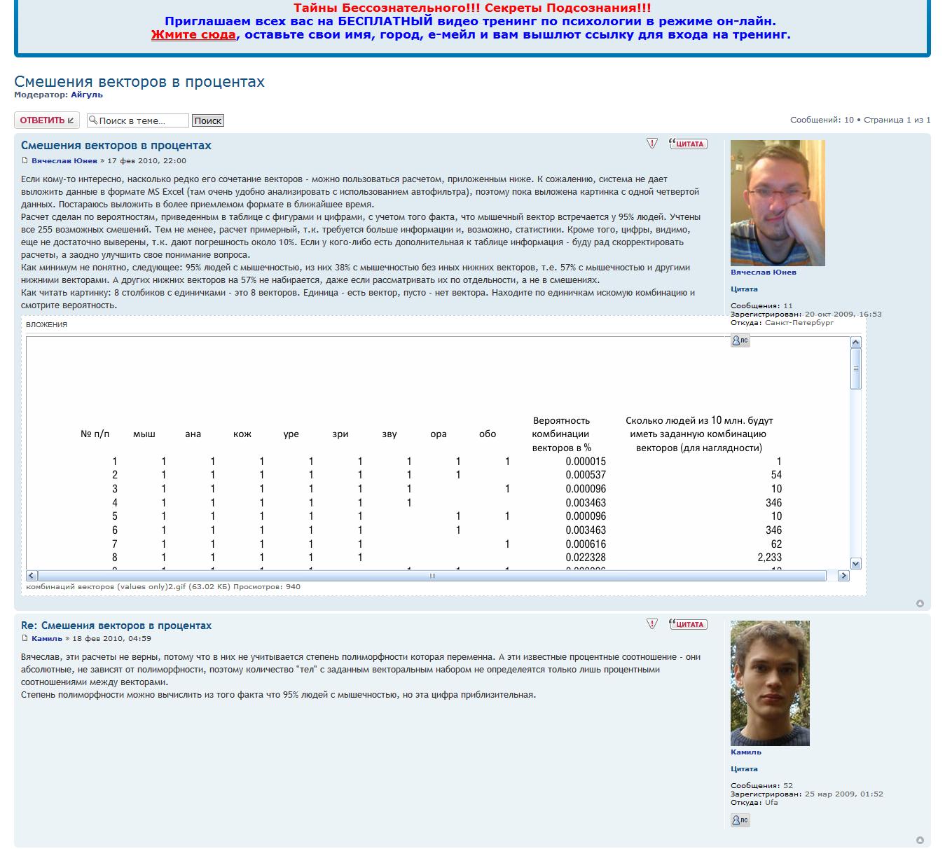 Вячеслав Юнев на форуме СВП ЮБ1